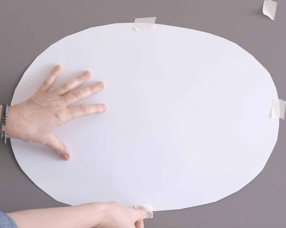 Πώς να φτιάξετε ένα οβάλ σχέδιο στον τοίχο σε 5 απλά βήματα 4